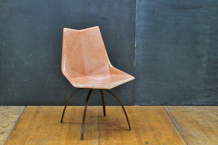 Amazing McCobb Geometric Fiberglass Chair : 20th Century Vintage Furnishings Design