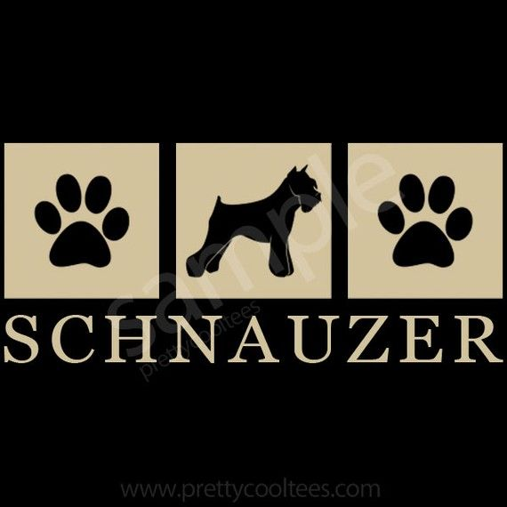 Schnauzer Dog Silhouette Paws TShirt  S to 5XL by prettycooltees, $22.99
