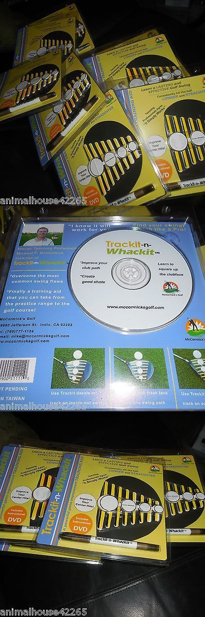 Other Golf Training Aids 14109: (8) Lot Trackit-N-Whackit Dvd And Decals Golf Training Aid Great Christmas Gifts -> BUY IT NOW ONLY: $34.99 on eBay!