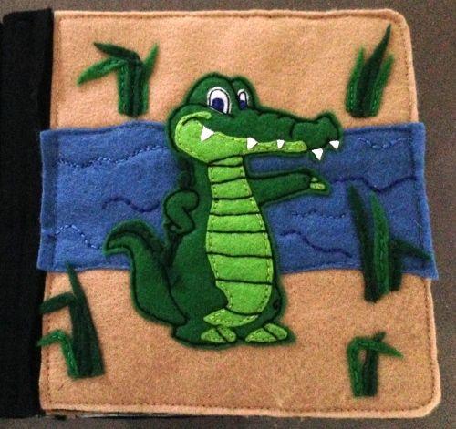 Tiffany's Animal Quiet Book - Crocodile page