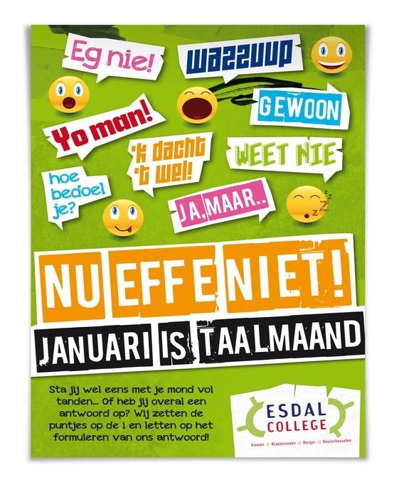 Poster Januari Taalmaand, Esdal College