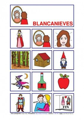 cuentos pictogramas. fairy tales to teach preterite imperfect. This site has questions and lesson plans