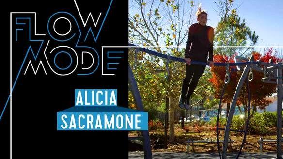 Gymnast Alicia Sacramone-Quinn transforms a jog into an unbelievable routine