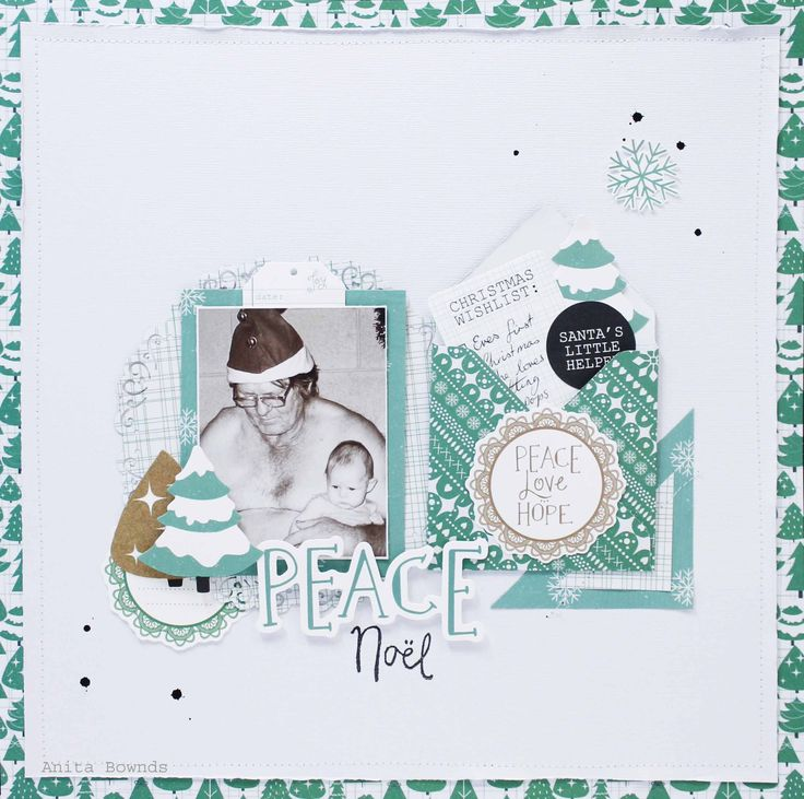 Peace - Kaisercraft - Holly Jolly Collection - Christmas