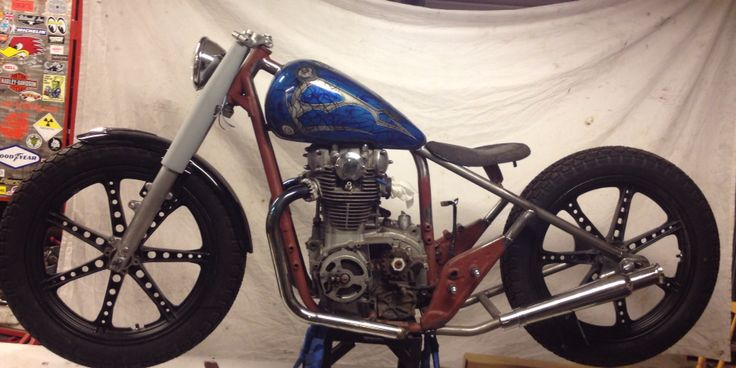 My XS 650 bobber in the workings
