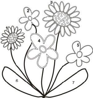 Patterns for applique flowers