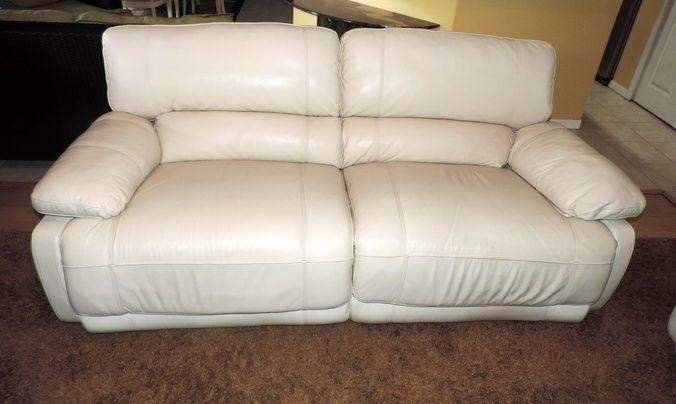 Phenomenal Nina Leather Dual Power Reclining Sofa 1025Theparty Com Machost Co Dining Chair Design Ideas Machostcouk