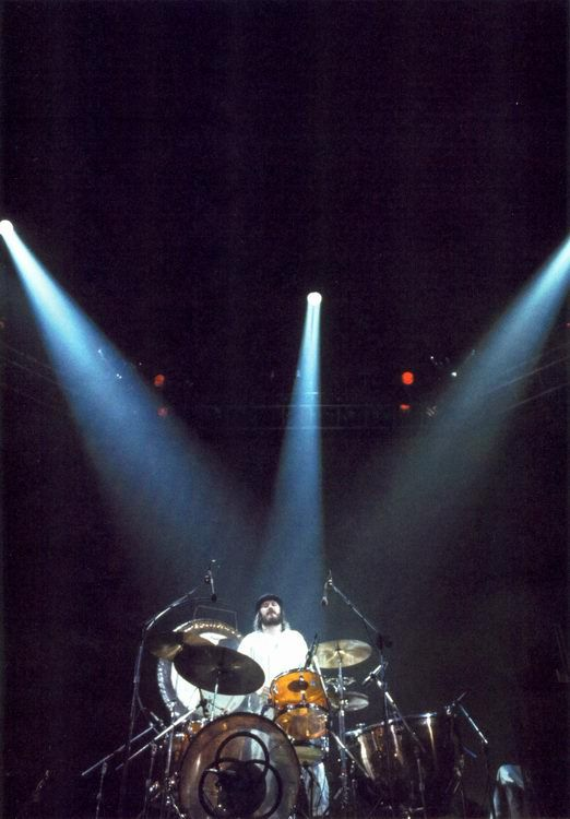 "John Bonham, Led Zeppelin. Worked his ass off!! This is probably after his ""Moby Dick""  solo, awesome!"
