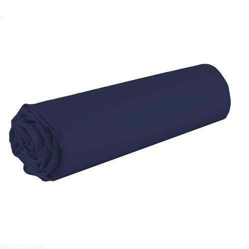 Drap housse 100% coton 90x190 cm Bleu marine - 6,99 € - Le drap housse 90x190 cm Bleu marine est composé en 100% coton 57 fils avec une taille de bonnet de 25 cm. à petit prix, plus d'infos sur Planete Discount