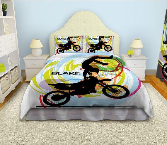 Kids Bedding Kids Rooms Motocross Duvet By EloquentInnovations