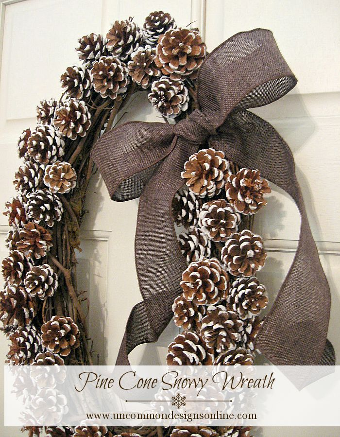 Pine Cone Snowy Wreath DIY Christmas wreath