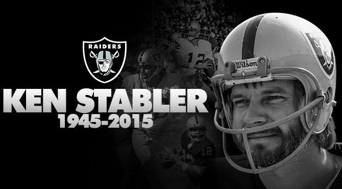 "Ken Stabler ""The Snake"" Kenneth Michael Stabler, nicknamed ""Snake"", was an American football quarterback in the National Football League for the Oakland Raiders, Houston Oilers and New Orleans Saints. He played college football for the University of Alabama in Tuscaloosa.    Died: July 8, 2015, Gulfport, MS  Hall of Fame induction: 2016"