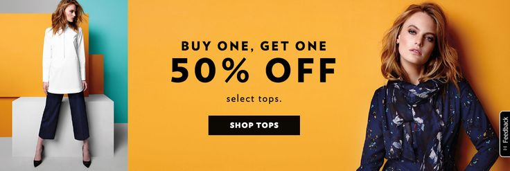Reitmans Canada Offers: Buy One Tops Get One 50% Off & More Offers http://www.lavahotdeals.com/ca/cheap/reitmans-canada-offers-buy-tops-50-offers/126693
