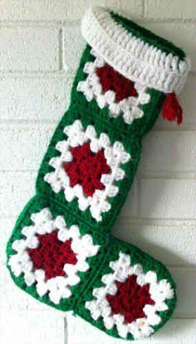 Easy Granny Square Christmas Stocking – Free Crochet Pattern