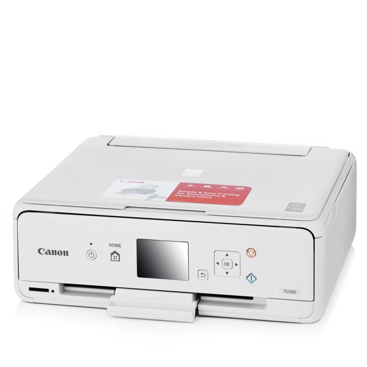 508962 - Canon Pixma TS5051 All-In-One Wireless WiFi Printer QVC PRICE: £90.00 INTRODUCTORY PRICE: £69.96 + P&P: £8.95 This Pixma TS5051 All-In-One Wireless WiFi Printer from Canon is a compact home printer, copier and scanner with a quick and easy interface and an adjustable panel with a 7.5cm (3) LCD display. Connect to WiFi and print or scan from your devices with this versatile all-in-one printer.