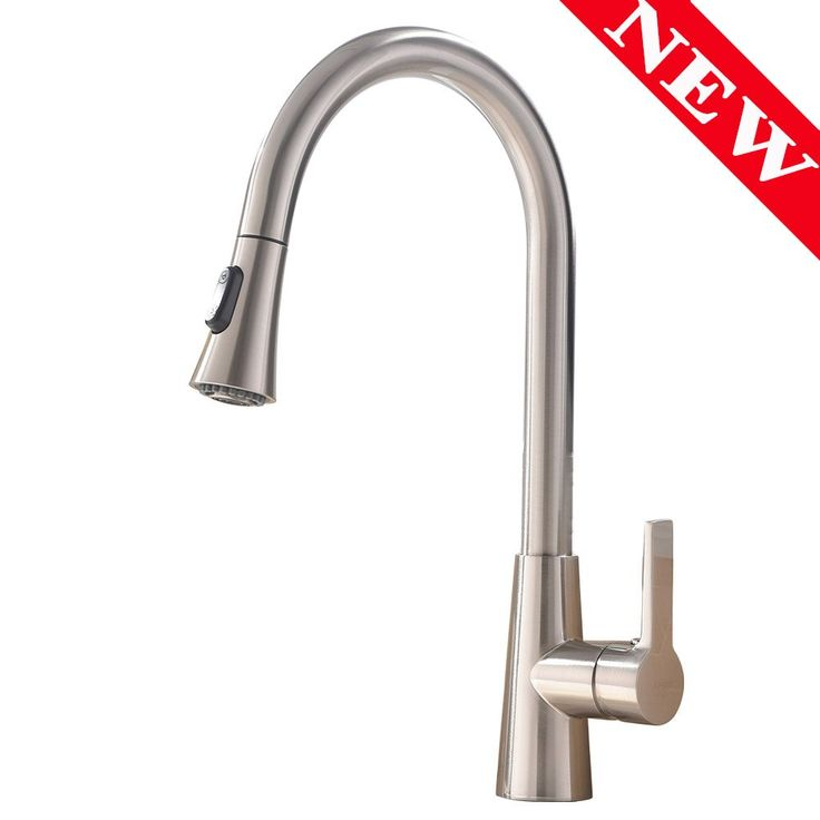 Vesla Commercial Stainless Steel Single Handle Pull Down Sprayer Kitchen Faucet,Brushed Nickel Kitchen Faucets