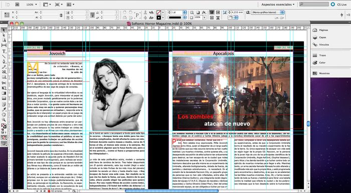 how to delete in indesign
