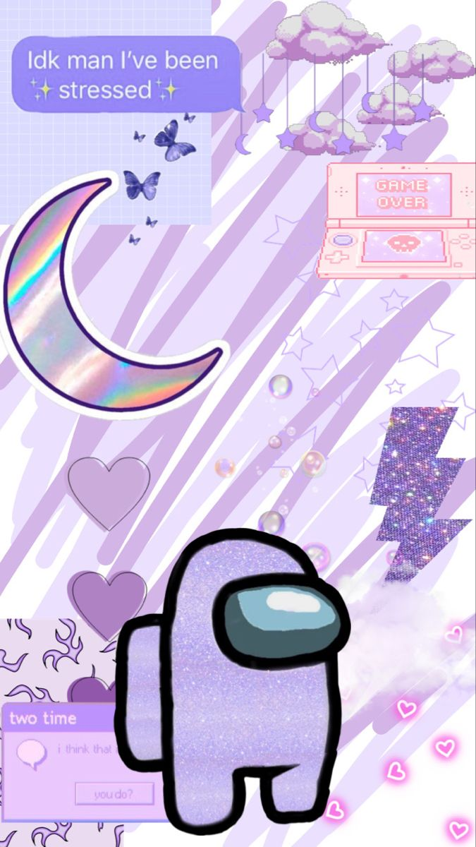 Purple Aesthetic Among Us Background In 2021 Funny Phone Wallpaper Iphone Wallpaper Vintage Aesthetic Iphone Wallpaper