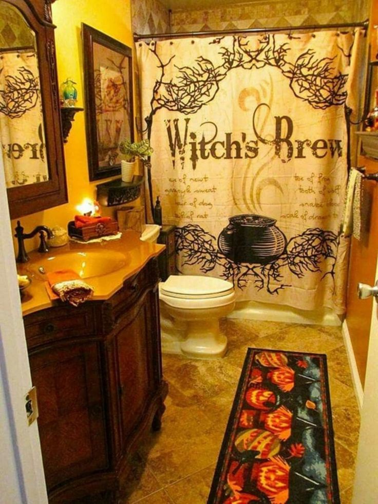 28 Stunning Witch Decor Ideas Gothic bathroom decor