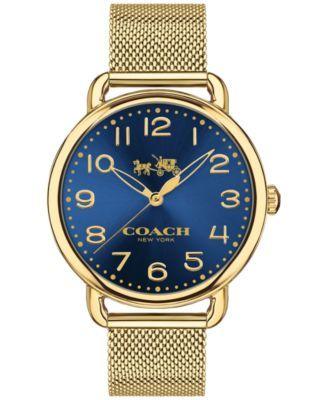 COACH Women's Delancey Gold-Tone Stainless Steel Mesh Bracelet Watch 36mm 14502665