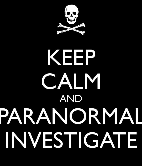 be a paranormal investigator!