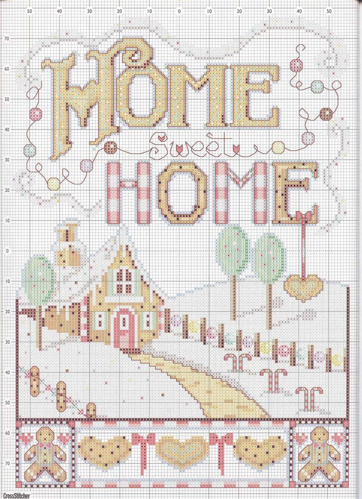 home sweet home  Cross Stitch  Pinterest