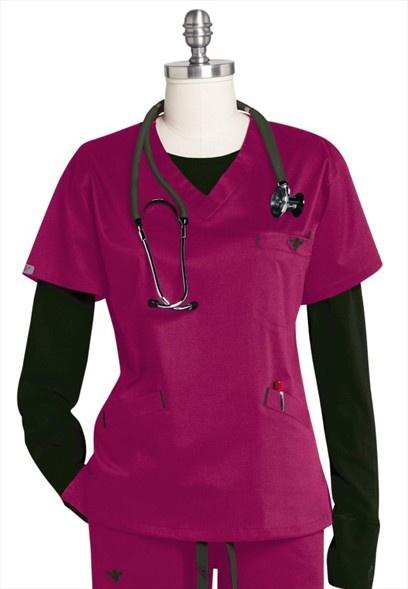 Medcouture by Peaches EZ Flex sport neckline scrub top. New Color!---my fave brand scrubs!
