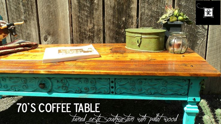Redo It Yourself Inspirations : Using Pallets: 70's Coffee Table Redo