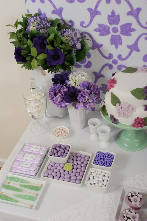 Pretty purple & violet sweets!