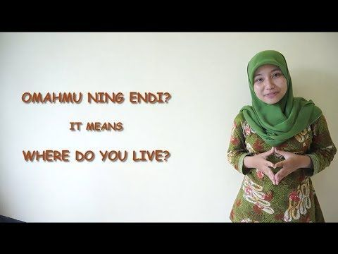 """▶ """"Where do you live?"""" in Javanese - YouTube"""