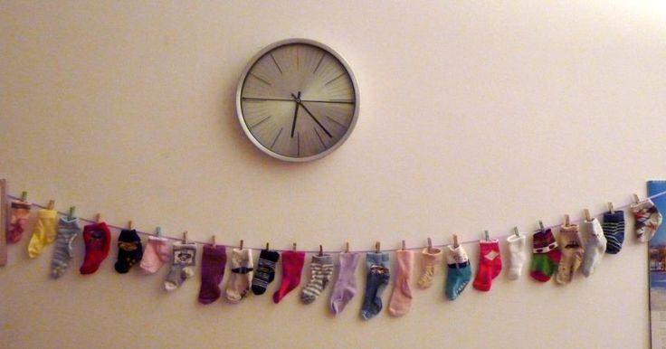 Adventi naptár zoknikból