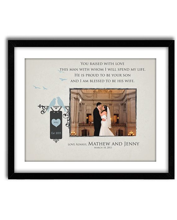 Wedding Gift for Parents Of Groom, Thank You gift for Parents, In laws Wedding Gift, Custom 11x14 Print with photo