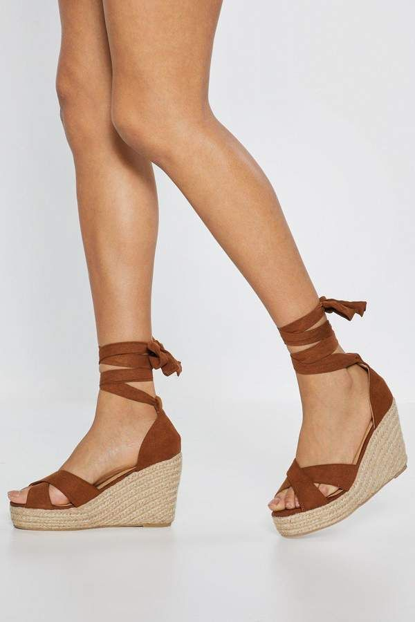 6b049f4e3d0 The Wedge of Glory Wrap Woven Sandals | Shop Clothes at Nasty Gal in ...