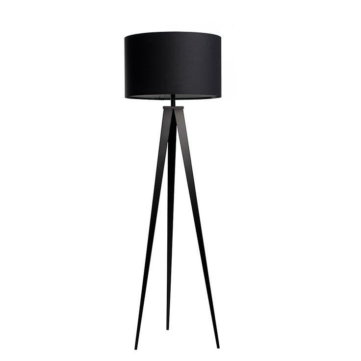 Staande lamp TRIPOD - metaal - 1 lichtbron - Zwart