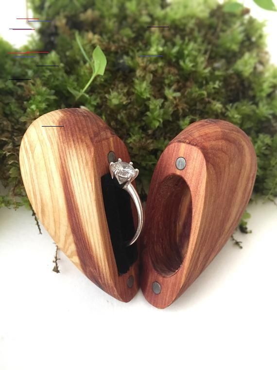 Handcrafted Unique Wooden Ring Holder.