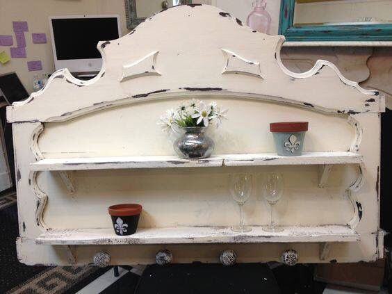 Snowflake & Antique White by Dawn Jones with the best chalk type paint ever- Miss Lillian's No-Wax Chock Paint! It's chock-full of colorful goodness!! Contact the Rebirth Attic for a free color consultation✌🏼️💜🎨 painted furniture