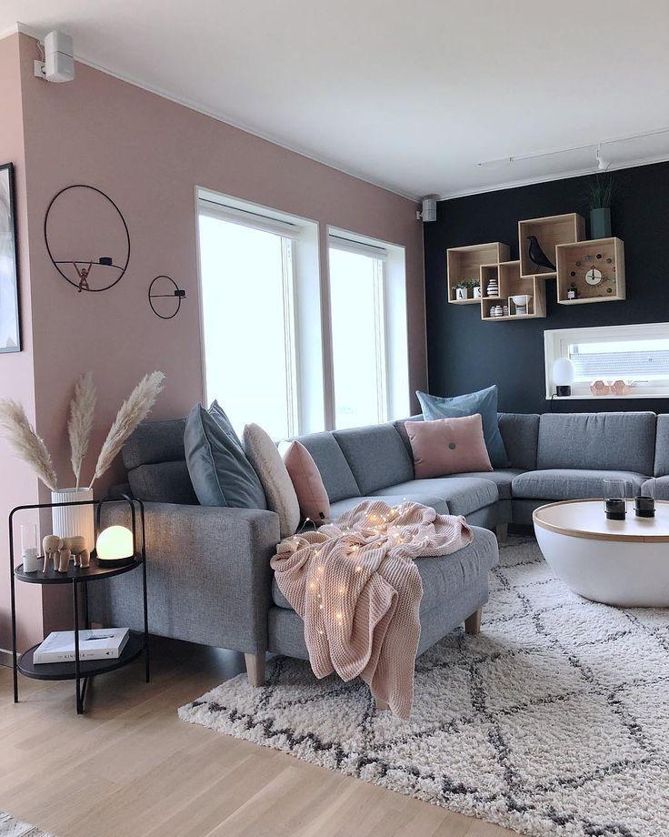 Se você acha que combinar rosa e azul fará com que seu interior pareça um ch …   – Wohnung