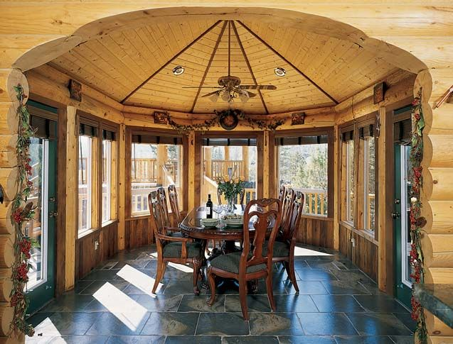 57 best images about sun rooms on pinterest sunroom for Log home sunrooms