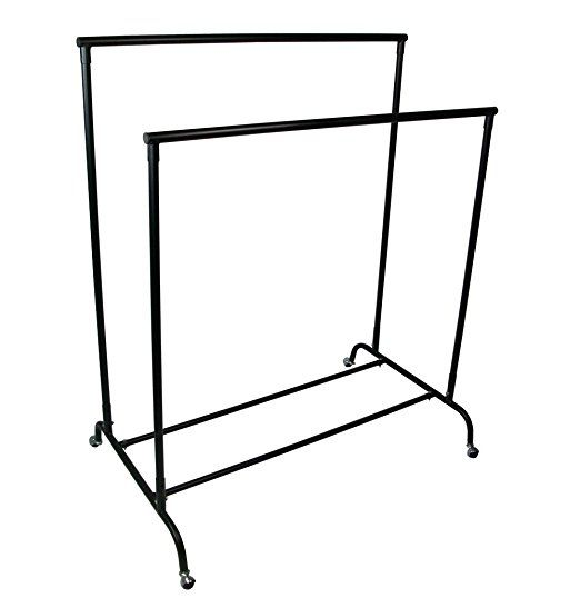 first fittings heavy duty double clothes rail garment rack 3ft long 5ft high