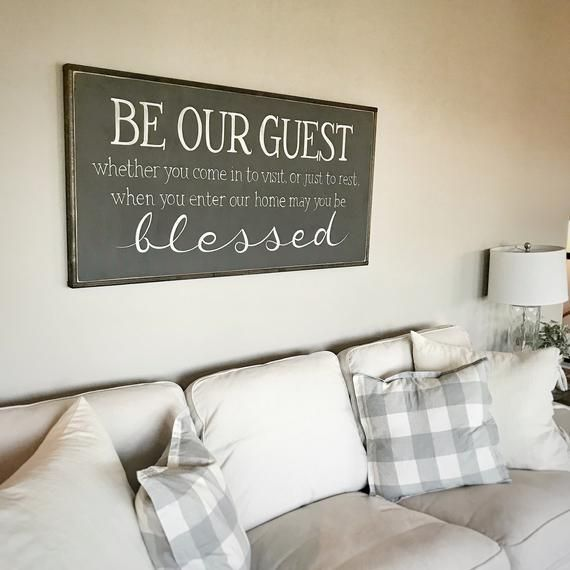 Farmhouse Sign Be Our Guest Sign Guest Room Wall Decor Farmhouse Wall Decor Sign For Guest Bedroom Be Our Guest Wood Sign Home Signs Plaques
