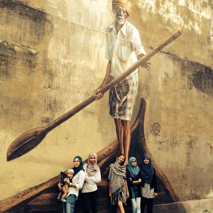 On a visit to Penang,Malaysia #mapaya, #coinshawl #mural