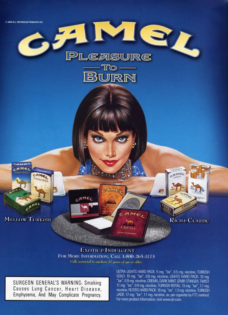 Camel cigarettes ads -- hate to say it but this is Lola