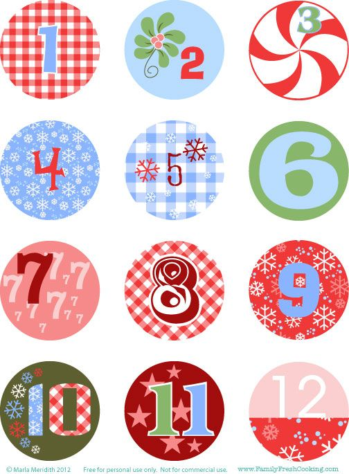 DIY: Freebie Christmas Advent Calendar on FamilyFreshCooking.com