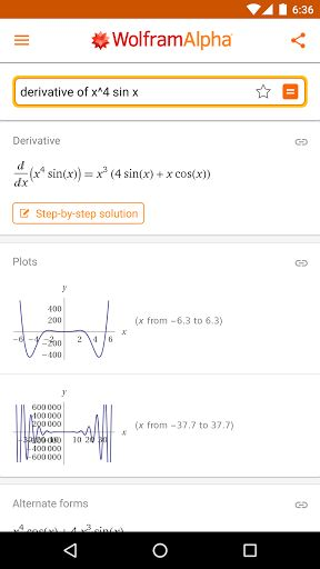 WolframAlpha v1.4.1.2017091801   WolframAlpha v1.4.1.2017091801Requirements:Android 2.1 and upOverview:Wolfram|Alpha has rapidly become the world's definitive source for instant expert knowledge and computation.  Remember the Star Trek computer? It's finally happening--with Wolfram|Alpha. Building on 25 years of development led by Stephen Wolfram Wolfram|Alpha has rapidly become the world's definitive source for instant expert knowledge and computation.  Across thousands of domains--with…