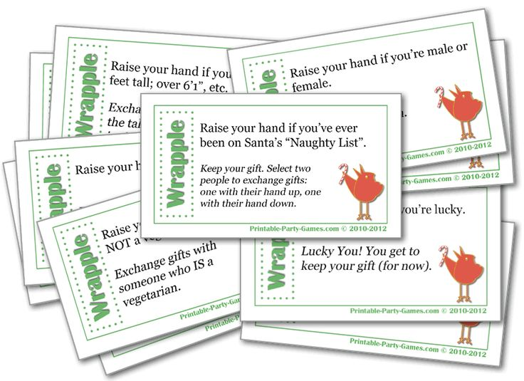 Christmas Party Games Ideas For Work Part - 50: Wrapple Christmas Gift Exchange Game, Adult And Office Christmas Party Games  | Printable Party Games