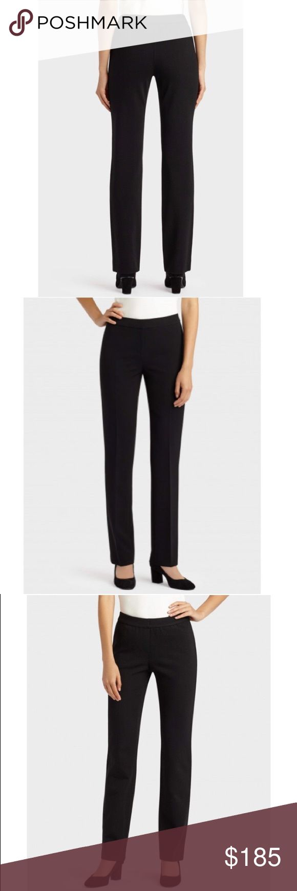 """🎀NWOT ITALIAN PUNTO MILANO KENT PANT Sleek finish and fitted silhouette make this a business wardrobe must-have. Flattering the body and holding any shape with incredible stretch, this Italian-sourced fabric defines comfort. A true ready-to-wear finish that is completely wrinkle resistant, Punto Milano is quintessential for head-to-toe style.  Straight fit 33"""" inseam; full length 9"""" rise; sits above waist 16"""" leg opening Elastic waistband; faux fly 71% Italian Viscose 24% Polyaide 5%…"""