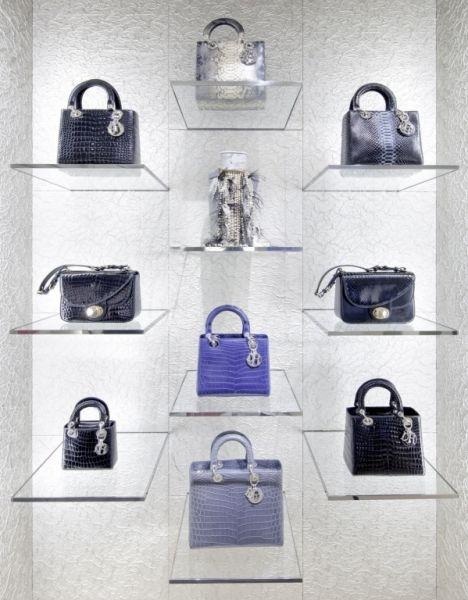 'Christian Dior. Floating handbag display.' from the web at 'https://i.pinimg.com/736x/18/54/8c/18548cd60ee7e49f1a550832047413e7--handbag-display-boutique-displays.jpg'