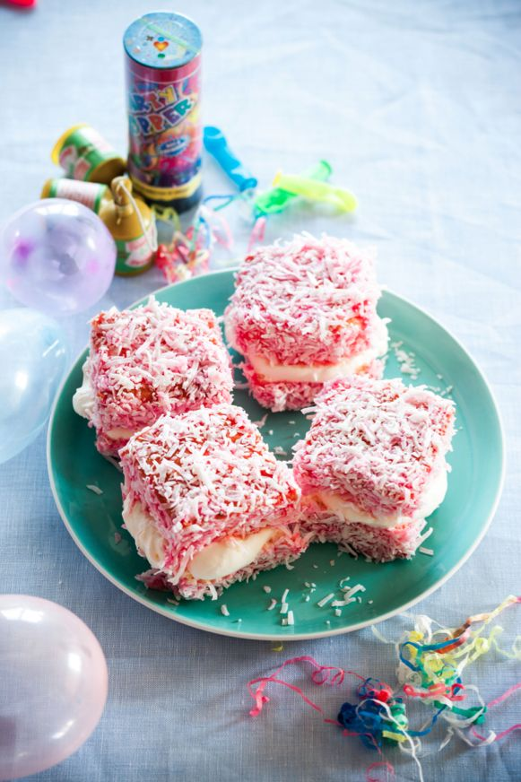 Marie's Strawberry Lamingtons