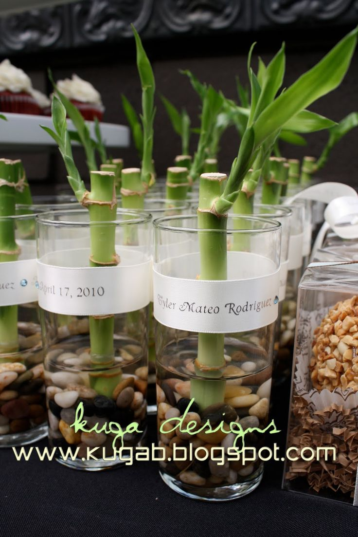 bamboo wedding favors love this idea . . . it will go great with the centerpieces i have in mind :)