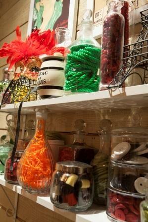 A well stocked Can Can girl's dresser. Donovans Restaurant